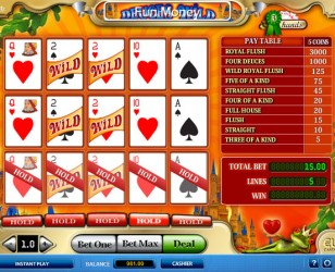 3Hand Deuces Wild Video Poker