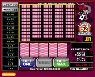 52Hand Double Double Bonus Video Poker