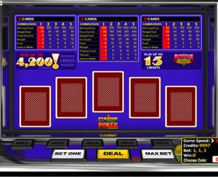 Pyramid Video Poker
