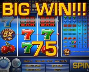 Jackpot Five Times Wins Slot Machine