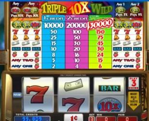 Triple 10x Wild Slot Machine