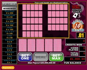 10Hand Double Double Bonus Video Poker