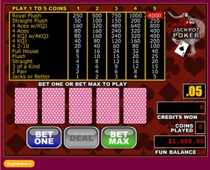Double Jackpot Video Poker