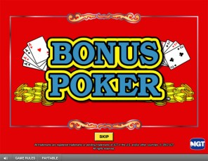 Game King Bonus Video Poker