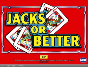 Game King Jacks or Better Video Poker