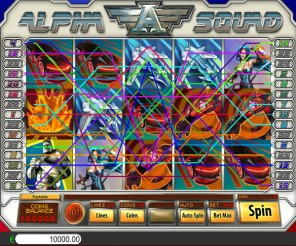 Alpha Squad Slot Machine