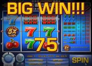 Jackpot Five Times Wins Slot Machine