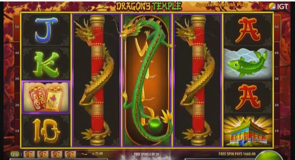 dragon temple slot from IGT
