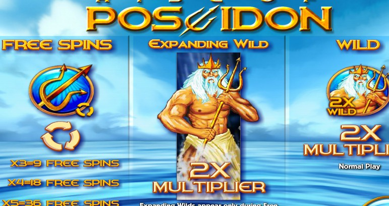 Rise of Poseidon slot machine from Rival Gaming