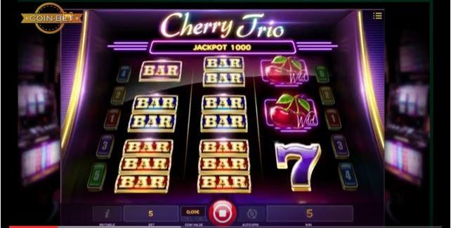 cherry trio slot machine from iSoftBet
