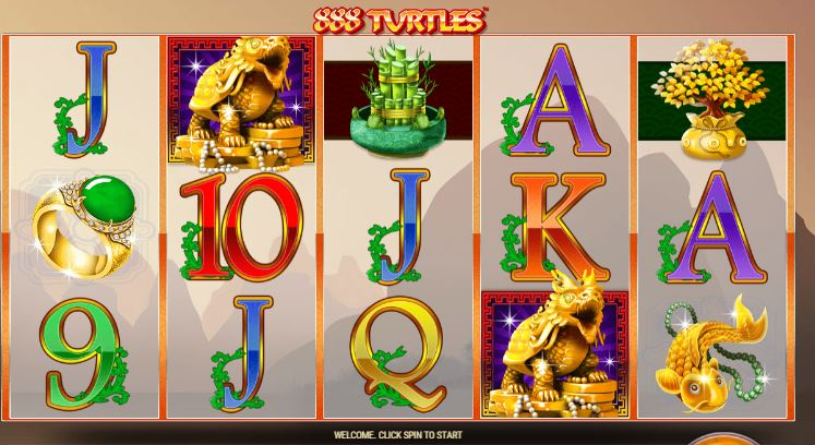 888 turtles slot from GamesOS