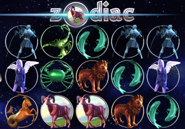 zodiac slot machine from Saucify